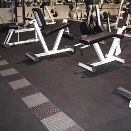 Durable Rubber Mats excellent for use in home or commercial gyms.