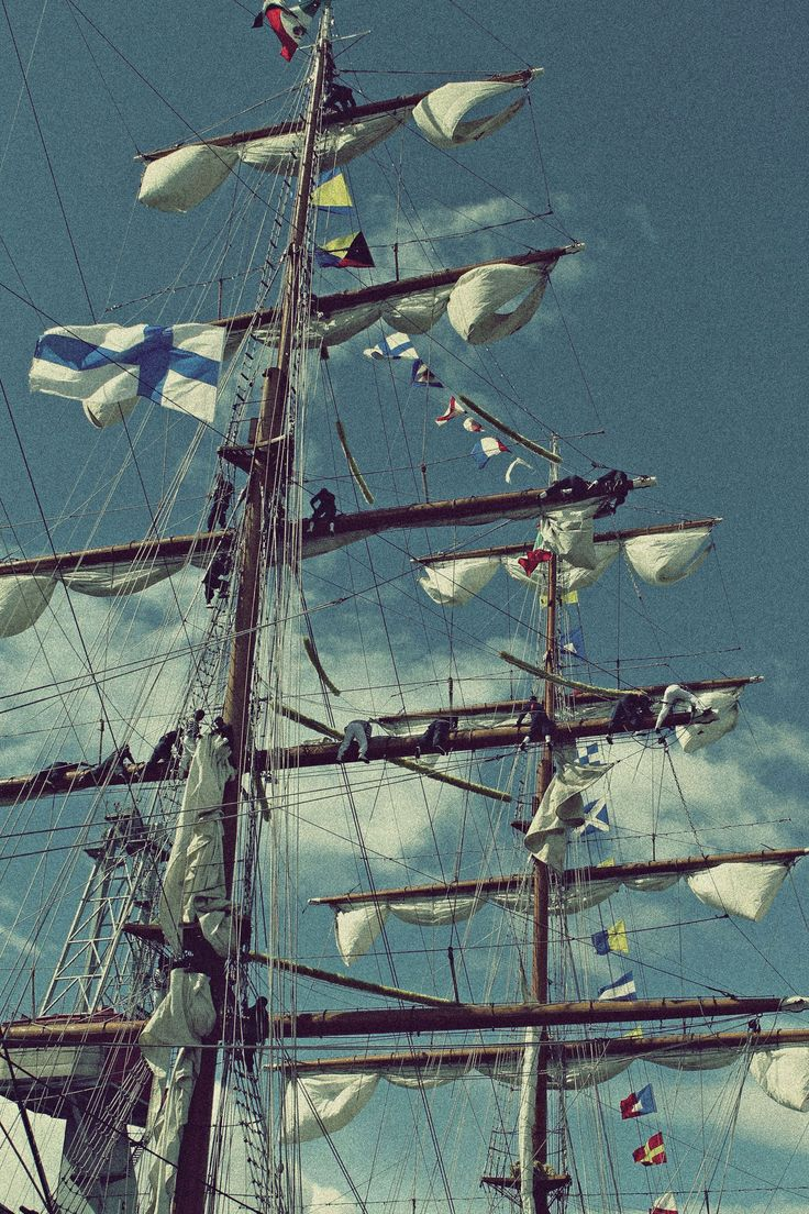 Flown from the mainmast