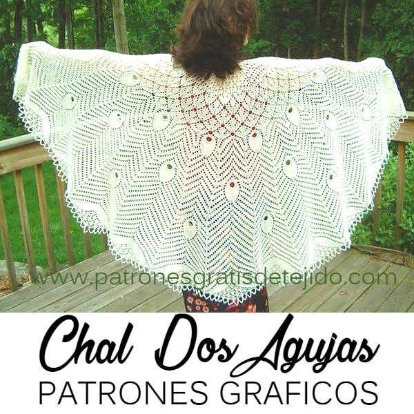 Chal Dos Agujas Maravilloso / Patrones | Crochet y Dos agujas