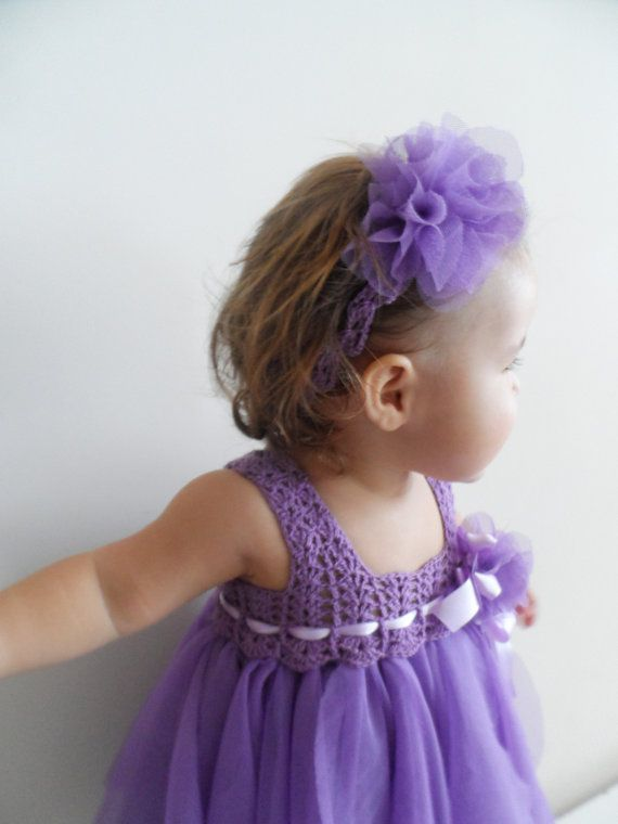 This is stinking cute, wish i saw this when emma was little. Lilac Purple Baby Tulle Dress with Empire Waist and by AylinkaShop