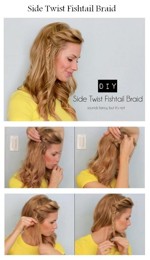 DIY...awesome in my eyes. I don't have someone to do my hair  when I feel like it or when I go out, so thank you!           How To Make A Side Twist Fishtail Braid | hairstyles tutorial