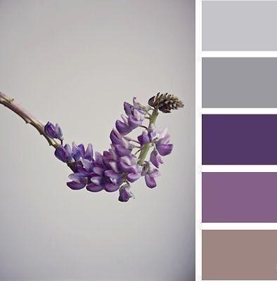Pantone color scheme... Love the deep purple with grey.