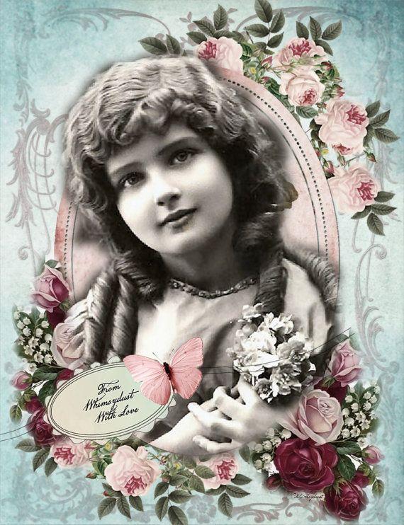 Collage digital hoja - vintage, descarga instantánea, Imaginaciones 68 - fondos, etiquetas, tarjetas, scrapbooking, el diario