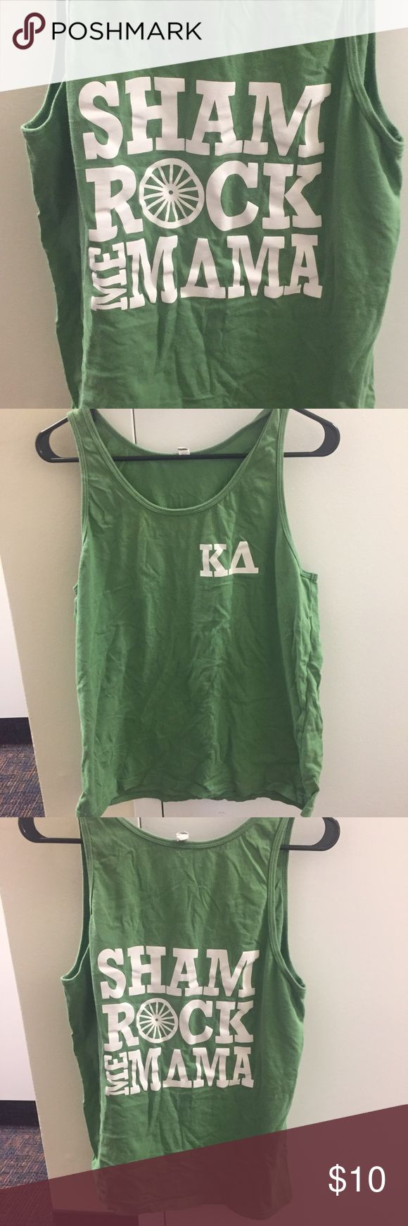 Kappa Delta Shamrock me Mama tank Cotton tank / only worn once! In perfect condition / feel free to ask questions or make an offer 😊 Canvas Tops Tank Tops