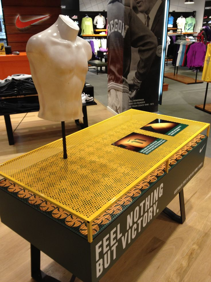 Nike Football - Socceroos - retail table display sports in-store shoe and sportswear display.