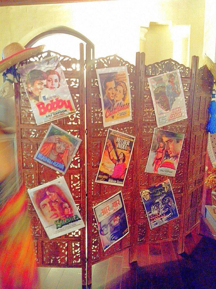 Retro Bollywood theme decoration at Ladies' Meet.