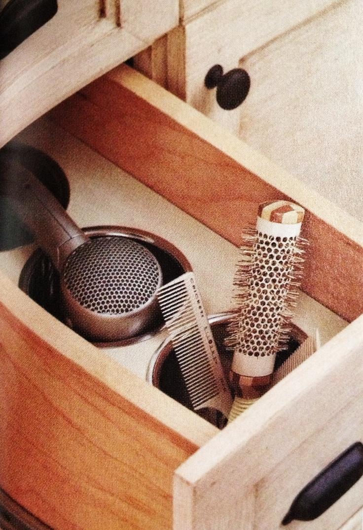 Wood Insert Silverware Bins From A Kitchen Supply Storage For Hair Dryers