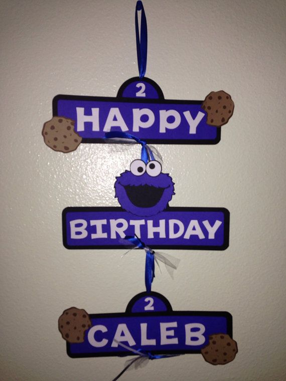 Cookie Monster Party Sign by EuphoricEffect on Etsy, $17.00