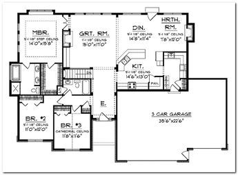 House Plans also House Plans furthermore Split Level Exterior further 146507794103871181 besides Future Home For The Empty Nesters. on a 4 bedroom ranch house open plan with garage