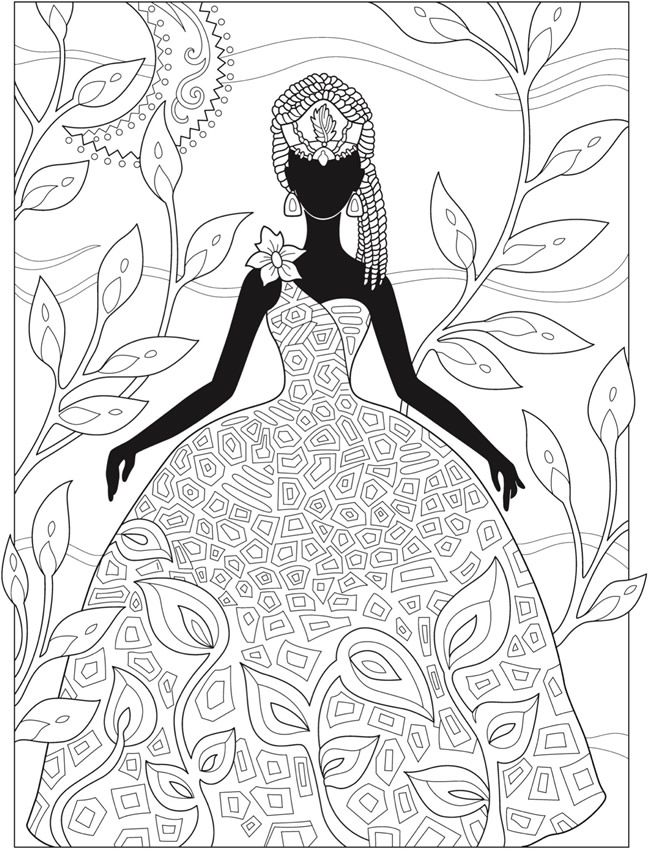 307 best Fashion Coloring Pages