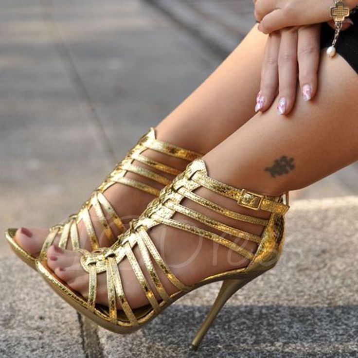 Strappy Sandals With Heels   Mad Heel