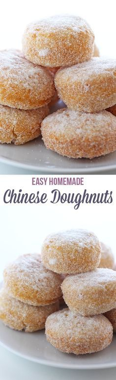 Homemade Chinese Doughnuts - This Homemade Chinese Doughnut recipe is reminiscent of the ones you get from the Chinese buffet dessert table but made from scratch in less than 1 hour.