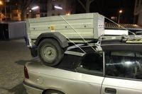 Bei diesem Hängertransport staunte die Polizei nicht schlecht.