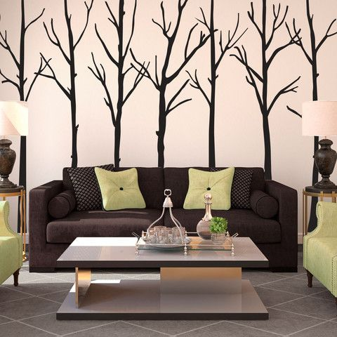 Branches are separate pieces, so you are able to rearrange and create the perfect scene for your wall!  Visit this link for more designs: https://limelight-vinyl.myshopify.com/