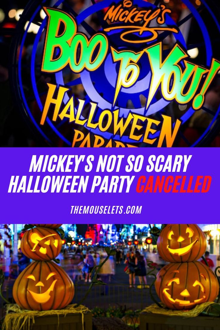 2020 Walt Disney World Halloween Vacation Mickey's Not So Scary Halloween Party Cancelled for 2020 | The