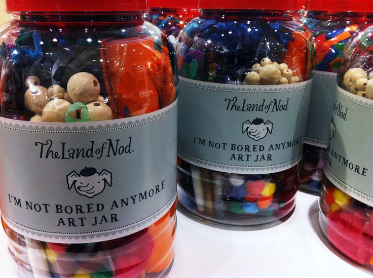 "Land of Nod ""I'm not bored anymore Art Jar""...where was this when i was a child!!!!"