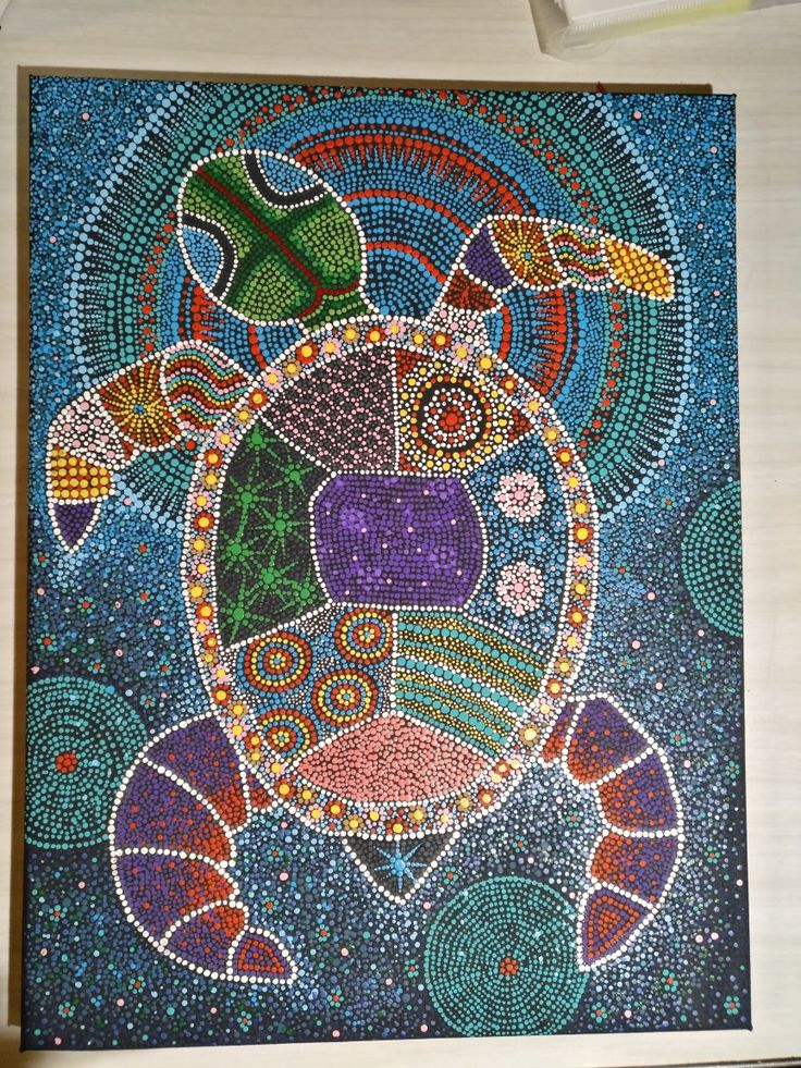 Turtle in dot art