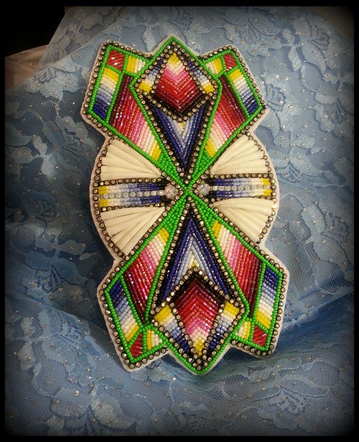 www.shawneedesignz.com womens southetn beadwork in progress