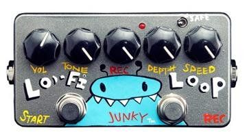 ZVex Effects Hand Painted LO-FI Loop Junky Guitar Effects Pedal