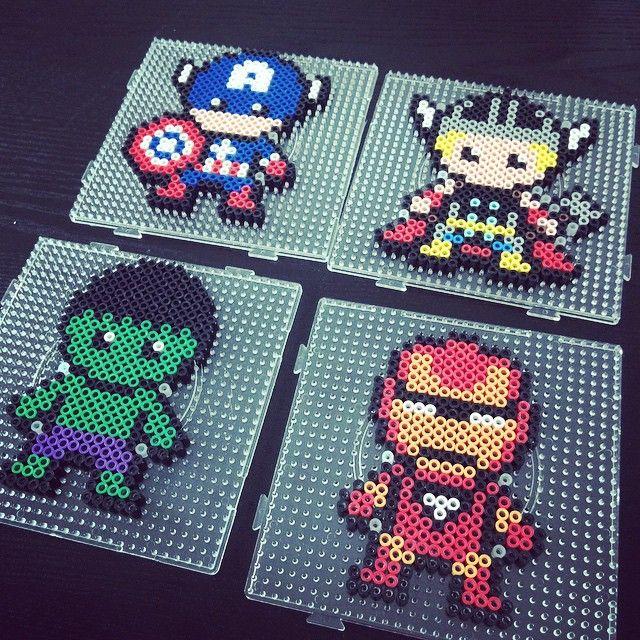 Marvel Avengers perler beads by celeste8051