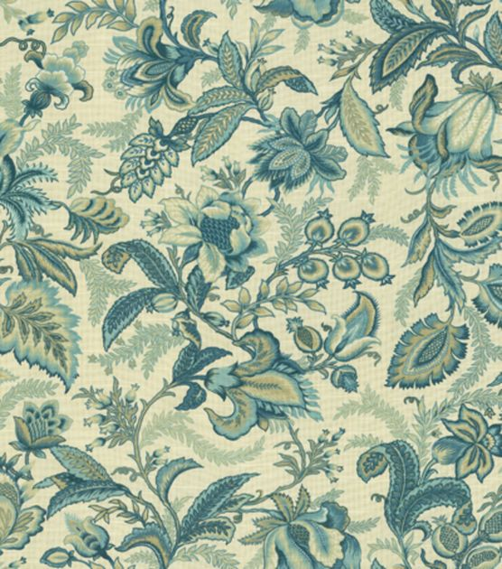 home decor print fabric better homes gardens wicklow indigo - Home Decor Fabric
