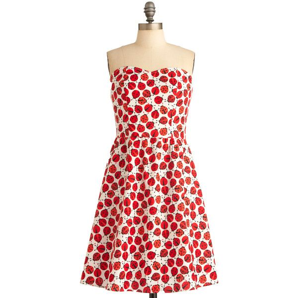 Ladybug in Red Dress ($70) ❤ liked on Polyvore