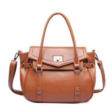 Women Newly Fashionable PU Vintage Brown Shoulder Bag