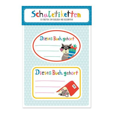 """#NastjaHoltfreter designte diese  Schuletiketten """"Tierischer Schulspaß"""" https://www.graetz-verlag.de/schuletiketten-tierischer-schulspass"""