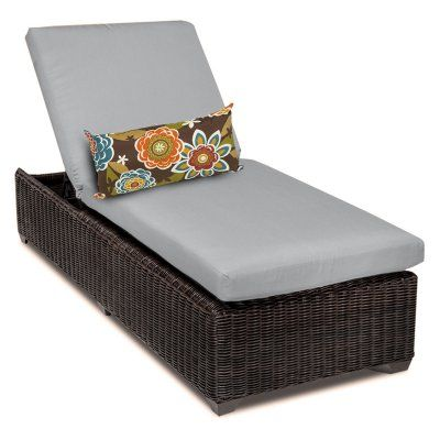 TK Classics Venice Outdoor Chaise Lounge - Set of 2 Cushion Covers Gray - VENICE-1X-GREY, TKCL013-9