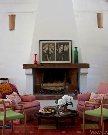 Room Designed By Kathryn M. Ireland In Southwest France. #fireplaces