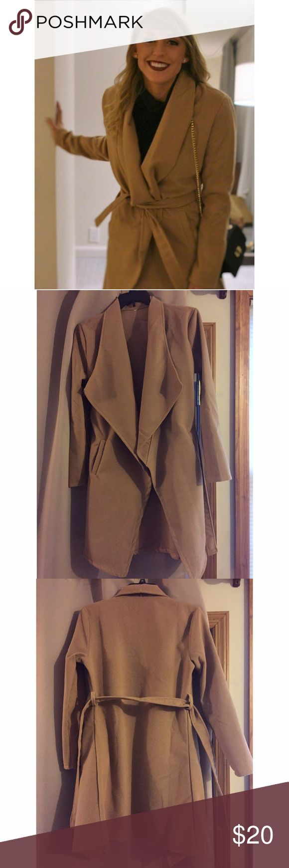 Dress Coat Beautiful camel dress coat - size M - light weight - non branded - perfect to wear out on a night out Jackets & Coats Pea Coats
