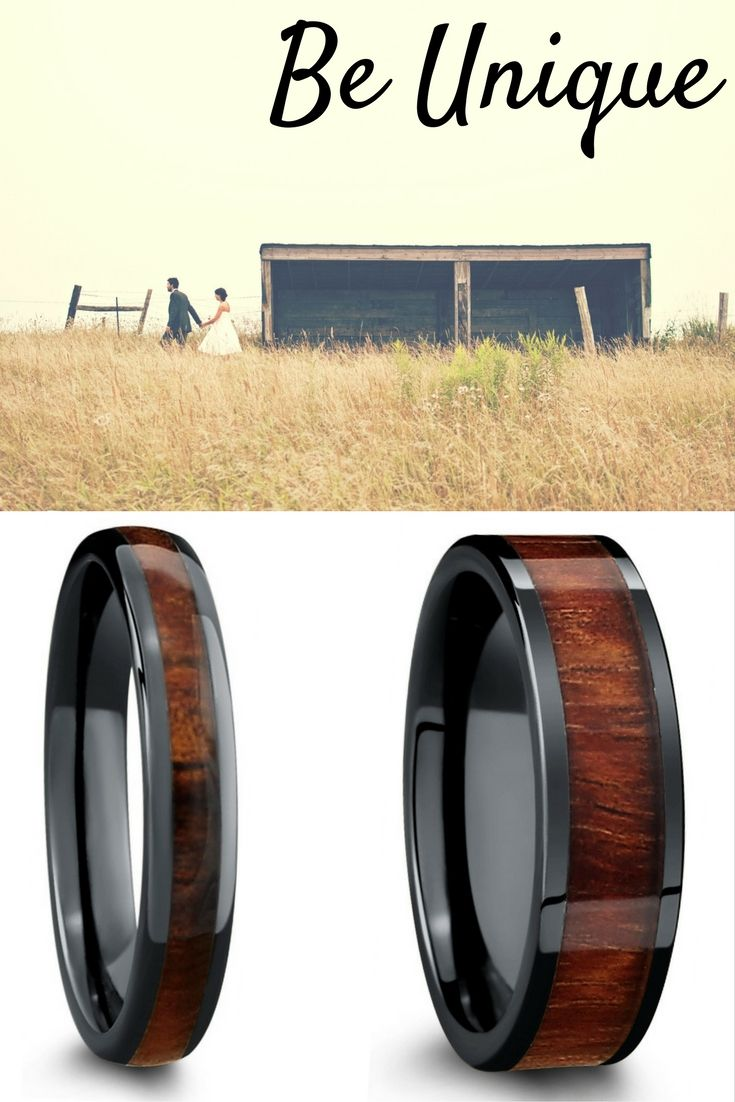 Truly Unique Wood Wedding Bands For Him And Her These Wood Wedding Rings  Are Crafted