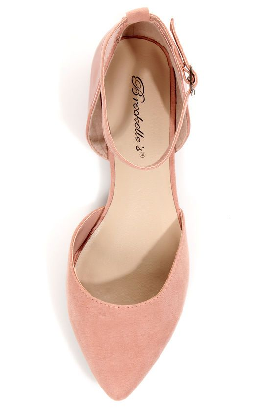 Summer Shoe List 4: Dolley 01 Blush Pink D'Orsay Pointed Flats - $20.00