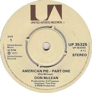 American Pie  DON MCLEAN 1972