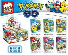 6 unids/set Increíble Modelos de Construcción Bloques de Construcción de Juguete Pokemon Pikachu juguete divertido de Los Cabritos Modelo Kits de Construcción de Modelos