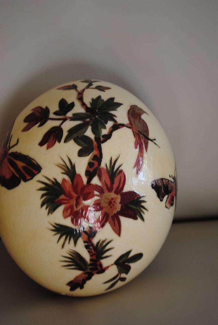 Decoupage per decorare le uova di pasqua - Uova di Pasqua decoupage a erbario