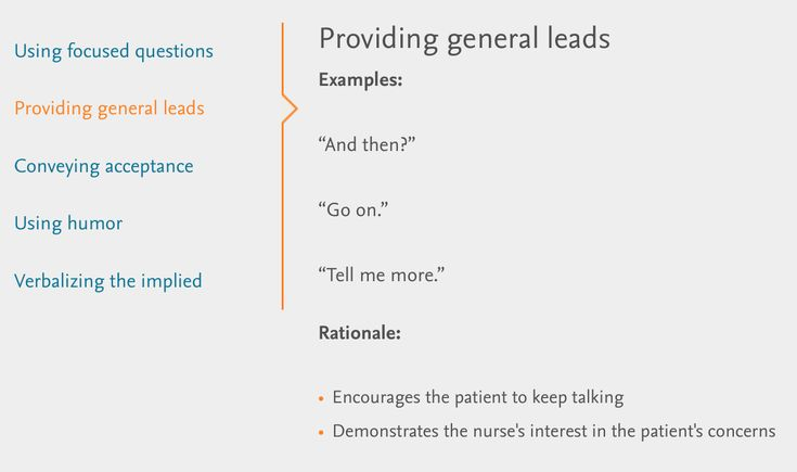 """Verbal Therapeutic Communication: providing general leads AKA """"I care and want to know more"""""""