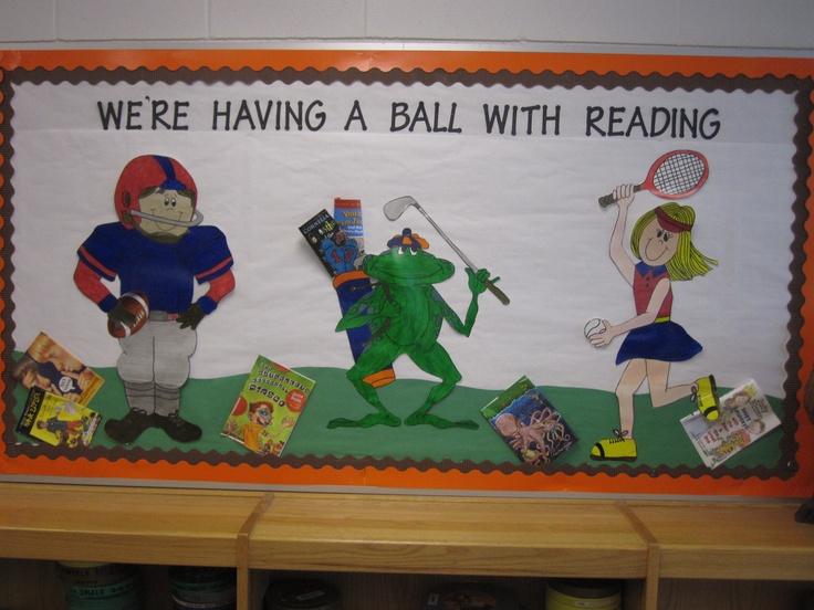Sports bulletin board for reading