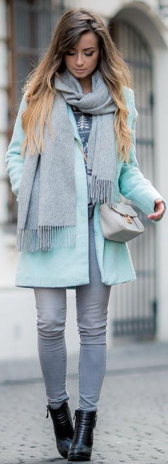 #winter #fashion / mint coat