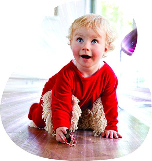 BABYMOP - Your Baby Helps Cleaning the House. Great Combo: Cleaning Mop + Rompers = BABYMOP