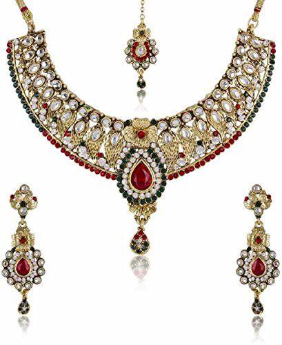 Dazzling Indian Bollywood Red & Green Stone CZ Wedding We... https://www.amazon.com/dp/B01NC381LB/ref=cm_sw_r_pi_dp_x_ED9PybQ9VN8GS