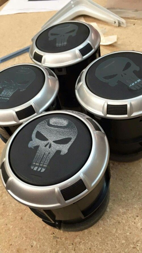 My Punisher Air vents in my Jeep JK thanks to https://wepleadthe2nd.com