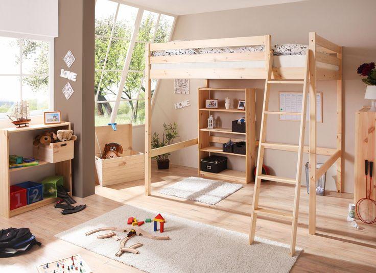hochbett beige, liegefläche 140/200cm, »lio«, fsc®-zertifiziert ... - Ausziehbares Kinderbett Mit Zeltdach Abenteuern