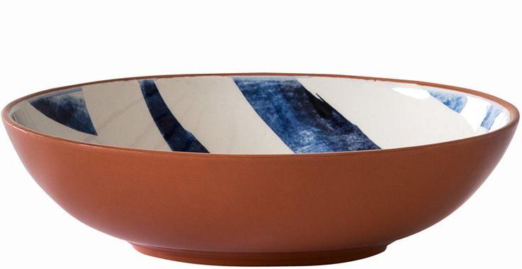 Terracotta Low Bowl – Zigzag - beautiful crockery to serve a feast in #weylandts #entertaining