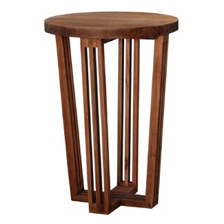 Bramble reuben tall side table 28 h x 20 round living for Tall side tables living room