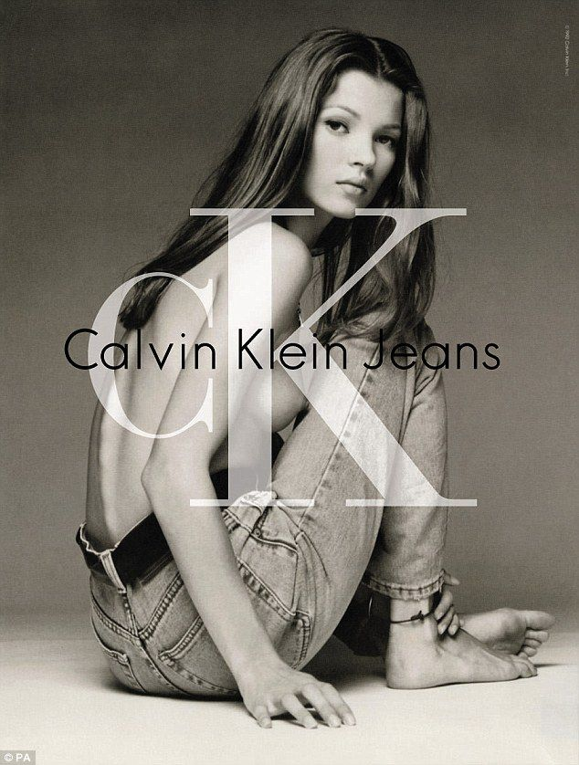 Flashback: Calvin Klein has previously attracted ire for championing the 'heroin chic' waifish look as exemplified by Kate Moss in a 1992 ad (pictured)