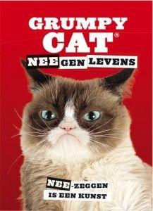 Grumpy Cat NEEgen levens recensie review nee-zeggen is een kunst cadeau boek chagrijnige kat stickers
