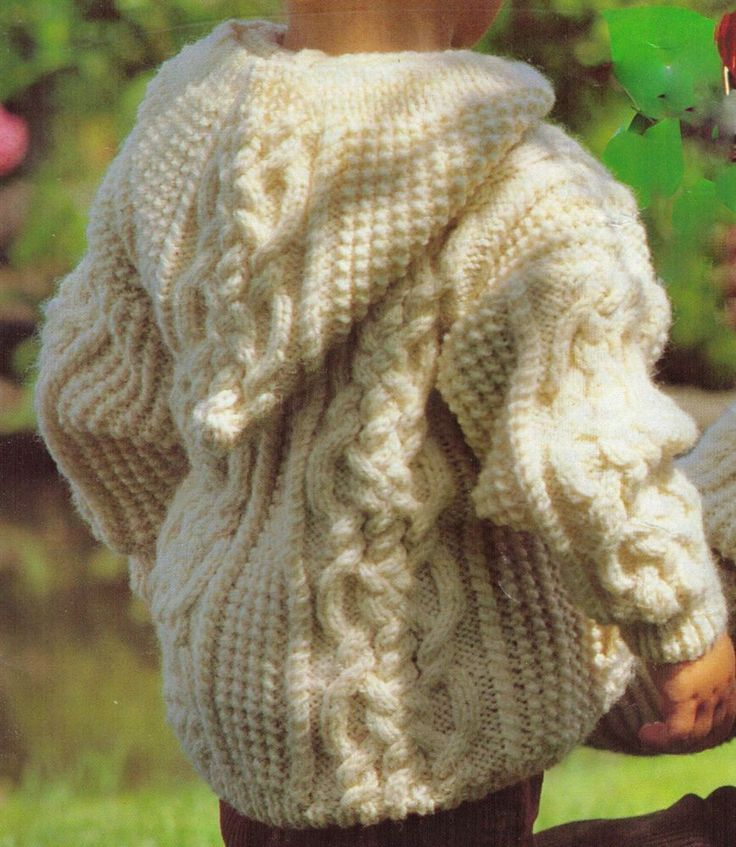 Knitting Pattern Child s Hooded Jacket : 17 Best images about Knitting patterns on Pinterest Free ...
