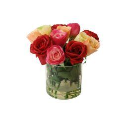 SIL079 mini rose arrangement