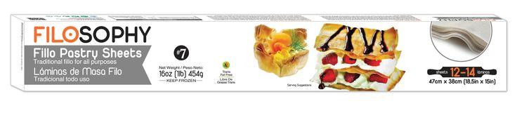 Fillo Pastry Sheets - Tradtional fillo for all purposes   Laminas de masa filo - Tradicional todo uso